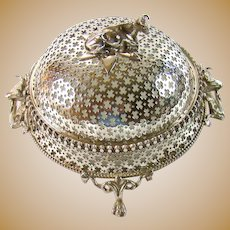 An impressive Silver Plated Butter Dish