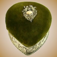 An Antique Silver Framed Pin Cushion/Jewellery Box, 1902