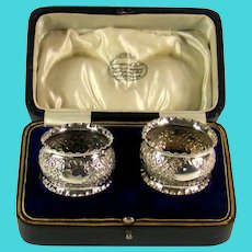 Pair Of Victorian Silver Napkin Rings, 1900.