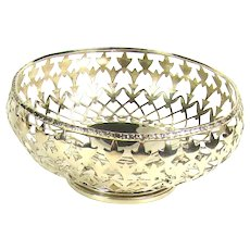 A Small Pierced Vintage Silver Bowl, 1937.
