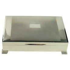 Art Deco Styled Sterling Silver Cigar/Cigarette Box, 1940.