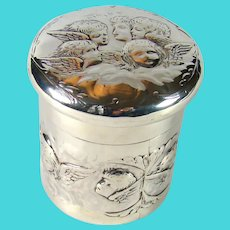 Antique Sterling Silver Tidy Box, 1897.