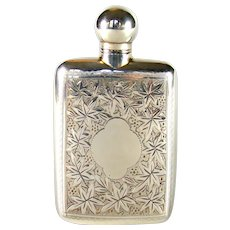 An Antique Sterling Silver Perfume/Scent Bottle, 1896.
