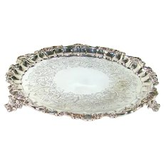 Early Victorian Sterling Silver Salver, 1839.