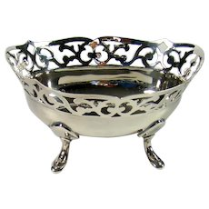 Small Vintage Sterling Silver Bowl, 1936.
