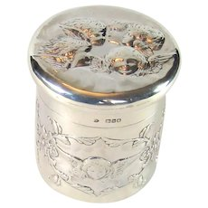 Antique Sterling Silver Box/Pot, 1897.