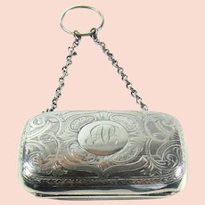 An Antique English Silver Purse, 1893.