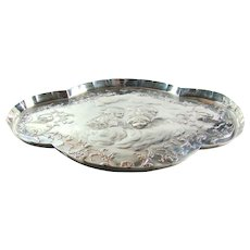 Stunning Antique Sterling Silver Dressing Table Tray, 1897.