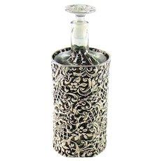 Antique Sterling Silver Framed Perfume/Scent Bottle, 1901.
