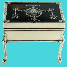 Tortoiseshell And Sterling Silver Antique Jewellery Box, 1912.