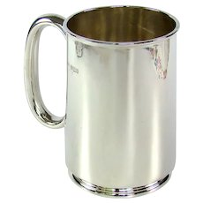 Antique Sterling Silver Pint Tankard, 1902.