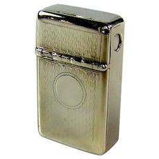 Rare Antique Sterling Silver Vesta Case, 1859.