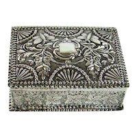Antique Sterling Silver Jewellery/Trinket Box, 1883