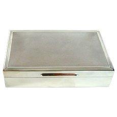 Vintage Sterling Silver Cigarette/Cigar Box, 1973.