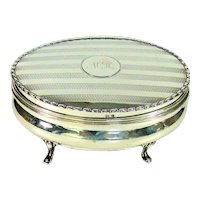 An Antique Sterling Silver Jewellery Box, 1908.