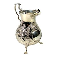 An Early Victorian Sterling Silver Cream Jug, 1858.
