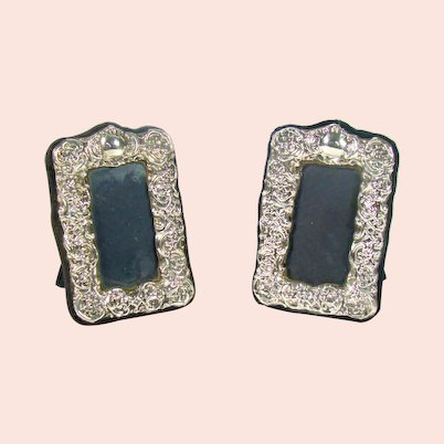 Pair Of Small Sterling Silver Photo Frames, 1996.
