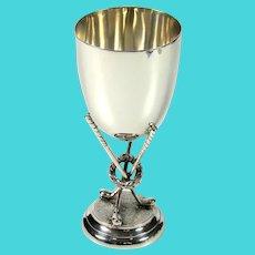 Vintage Sterling Silver Golfing Trophy, 1923.