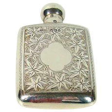 Antique Sterling Silver Scent/Perfume Bottle, 1896.