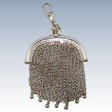 An Antique Silver Chain Mesh Purse, 1916.