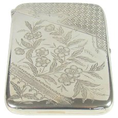 Antique Sterling Silver Card Case, 1891.
