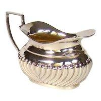 Victorian Sterling Silver Cream Jug, 1899.