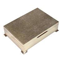 A Good Quality Sterling Silver Cigar/Cigarette Box, 1975.
