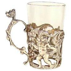 Antique Sterling Silver Set Of Whiskey/Liqueur Celebration Tots, 1904.