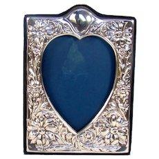Heart Shaped Vintage Sterling Silver Photograph Frame, 1994.