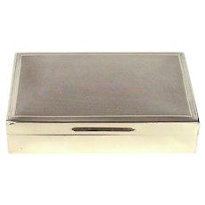 Vintage Sterling Silver Cigar/Cigarette Box, 1973.