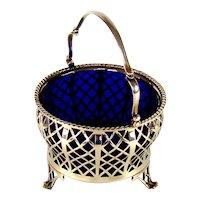 A George V Silver Sugar Basket, 1935.