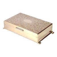 English Sterling Silver Jewellery Box, 1967.