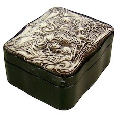 A Vintage Sterling Silver Topped Jewellery Box, 1983.