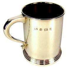An English Silver Christening Mug, 1972.
