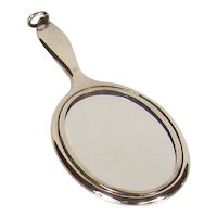 Antique Sterling Silver Chatelaine Mirror, 1912.