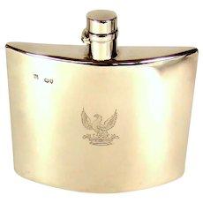 Antique Sterling Silver Hip Flask, 1888.