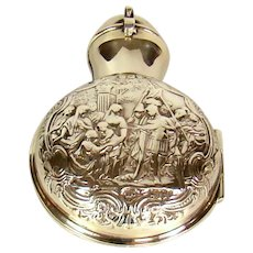 Antique Sterling Silver Cased Scent/perfume Bottle, 1898.