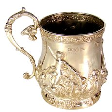 Good Quality Antique Sterling Silver Mug, 1904.