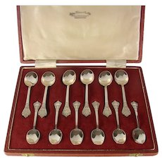 Vintage Sterling Silver Set Of Tea And Coffee Spoons, 1969.