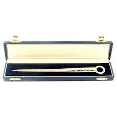 Vintage Sterling Silver Letter Opener/Paper Knife, 2001.
