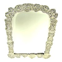 A Victorian Silver Dressing Table Mirror, 1883.