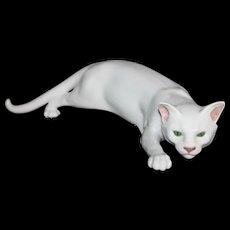 Sneaking Cat - A Very Rare Antique Royal Copenhagen
