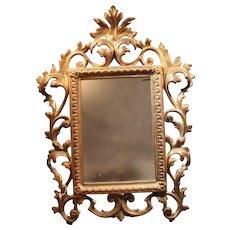 Antique Brass Rococo Standing Frame