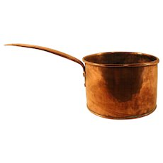 Vintage Copper Hand Made Sauce Pan