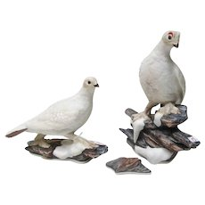 Edward Boehm Porcelain Ptarmigan Figurines