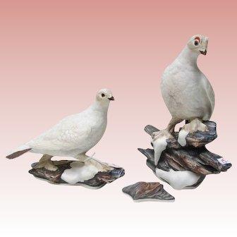 Edward Boehm Porcelain Ptarmigan Figurines