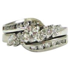 Diamonds and White Gold Wedding Set