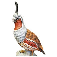 Porcelain Mountain Quail Figurine