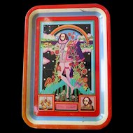 Shakespeare Psychedelic Tin Tray by Polypops Products Ltd. (London 1960s)