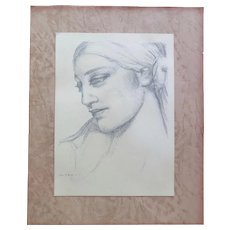Pencil Drawing signed Moitroux